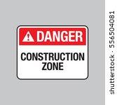 A Vector Danger Sign Warning...