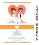 wedding invitation card... | Shutterstock .eps vector #556506694