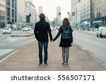 back view of young beautiful... | Shutterstock . vector #556507171