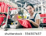 seamstress or worker in asian... | Shutterstock . vector #556507657