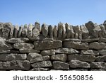 A Dry Stone Wall Against Clear...