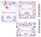 wedding card or invitation.... | Shutterstock . vector #556510654