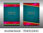 business brochure flyer... | Shutterstock .eps vector #556512631
