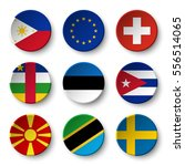 set of world flags round badges ... | Shutterstock .eps vector #556514065