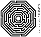 octagon maze   labyrinth on... | Shutterstock .eps vector #556514524