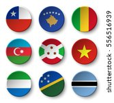 set of world flags round badges ... | Shutterstock .eps vector #556516939