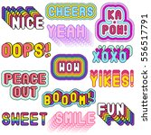 big set of patches  stickers ... | Shutterstock .eps vector #556517791