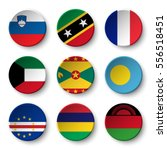 set of world flags round badges ... | Shutterstock .eps vector #556518451