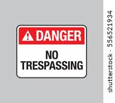 A Vector Danger Sign Warning...