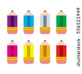 a set of different color vector ... | Shutterstock .eps vector #556521949