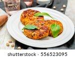 sweet potatoes chickpea... | Shutterstock . vector #556523095