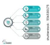 modern infographic design... | Shutterstock .eps vector #556530175