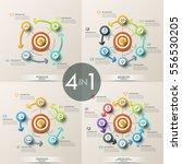 set of 4 modern infographic... | Shutterstock .eps vector #556530205