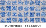 typical old portuguese tiles... | Shutterstock . vector #556530907