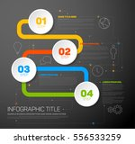 one two three four   colorful... | Shutterstock .eps vector #556533259