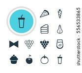 illustration of 12 dish icons.... | Shutterstock . vector #556533865