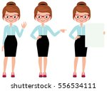 business woman isolated on... | Shutterstock .eps vector #556534111