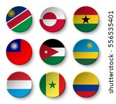 set of world flags round badges ... | Shutterstock .eps vector #556535401