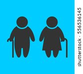 elder people icon flat. simple...   Shutterstock .eps vector #556536145