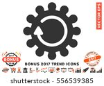 orange and gray cog rotation... | Shutterstock .eps vector #556539385