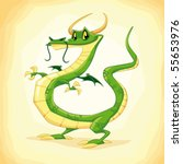Colored Dragon. Funny Cartoon...