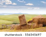 Straw Bale Or Hey Stack At...