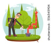 infographic growth cultivate... | Shutterstock .eps vector #556545904