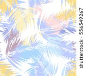 Tropical Palm Seamless Vector...