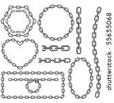 chain frames | Shutterstock .eps vector #55655068