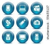 blue glass ball 16   Shutterstock .eps vector #55655137