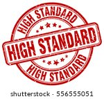 high standard. stamp. red round ... | Shutterstock .eps vector #556555051