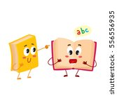two funny book characters... | Shutterstock .eps vector #556556935