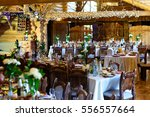 beautifully served banquet... | Shutterstock . vector #556557664