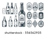 set of icons beer bottles and... | Shutterstock .eps vector #556562935
