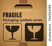 fragile or breakable material... | Shutterstock .eps vector #556564489