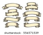 set of ribbons isolated on... | Shutterstock .eps vector #556571539