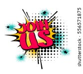 comic text letters sound... | Shutterstock .eps vector #556571875