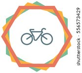 bicycle vector icon. healthy... | Shutterstock .eps vector #556573429