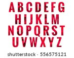 abc golden alphabet letters... | Shutterstock . vector #556575121