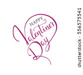 "lettering ""happy valentine's...   Shutterstock .eps vector #556575541"