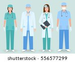 hospital staff concept. group... | Shutterstock .eps vector #556577299