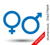 gender icon. flat icon of... | Shutterstock .eps vector #556579849