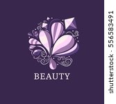 beauty and fashion logo... | Shutterstock .eps vector #556583491