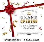 grand opening card design with... | Shutterstock .eps vector #556586335