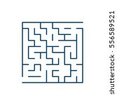 vector easy labyrinth. maze or... | Shutterstock .eps vector #556589521