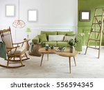 natural wood furniture green... | Shutterstock . vector #556594345