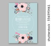 wedding invitations with... | Shutterstock .eps vector #556595461