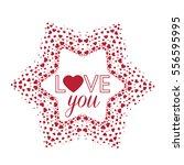 vector decoration heart ... | Shutterstock .eps vector #556595995