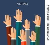 election voting background.... | Shutterstock . vector #556596019