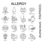 allergy symptoms linear...   Shutterstock . vector #556596031